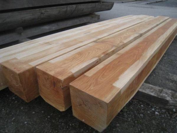 画像1: 500077 欅けやき 杢 柱材 角材 激安価格 販売通販(長さ4m×30cm×30cm ほか) (1)