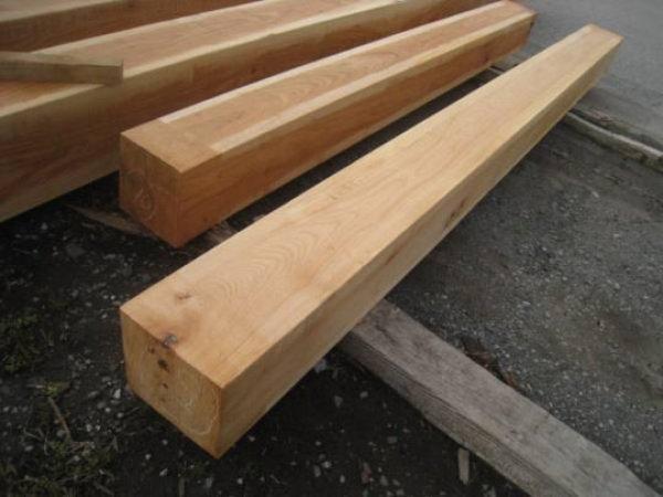 画像1: 500075 欅 太角 角材 柱材(長さ3m×24cm×24cmほか) (1)